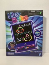 Lite Brite set new in box LED flat screen w/ 200 pegs 8 design + 2 blank pages  - $19.79
