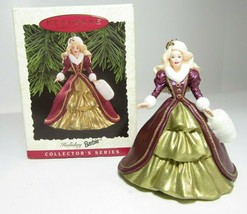 1996 Collectors Series Holiday Barbie Hallmark Keepsake Ornament Christmas #4 - $9.49