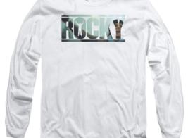 Rocky Retro Boxing Movie Balboa Creed graphic long sleeve white T-shirt MGM239 image 2