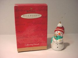 1999 Hallmark Christmas Ornament Collecting Friends Snowman - $5.94