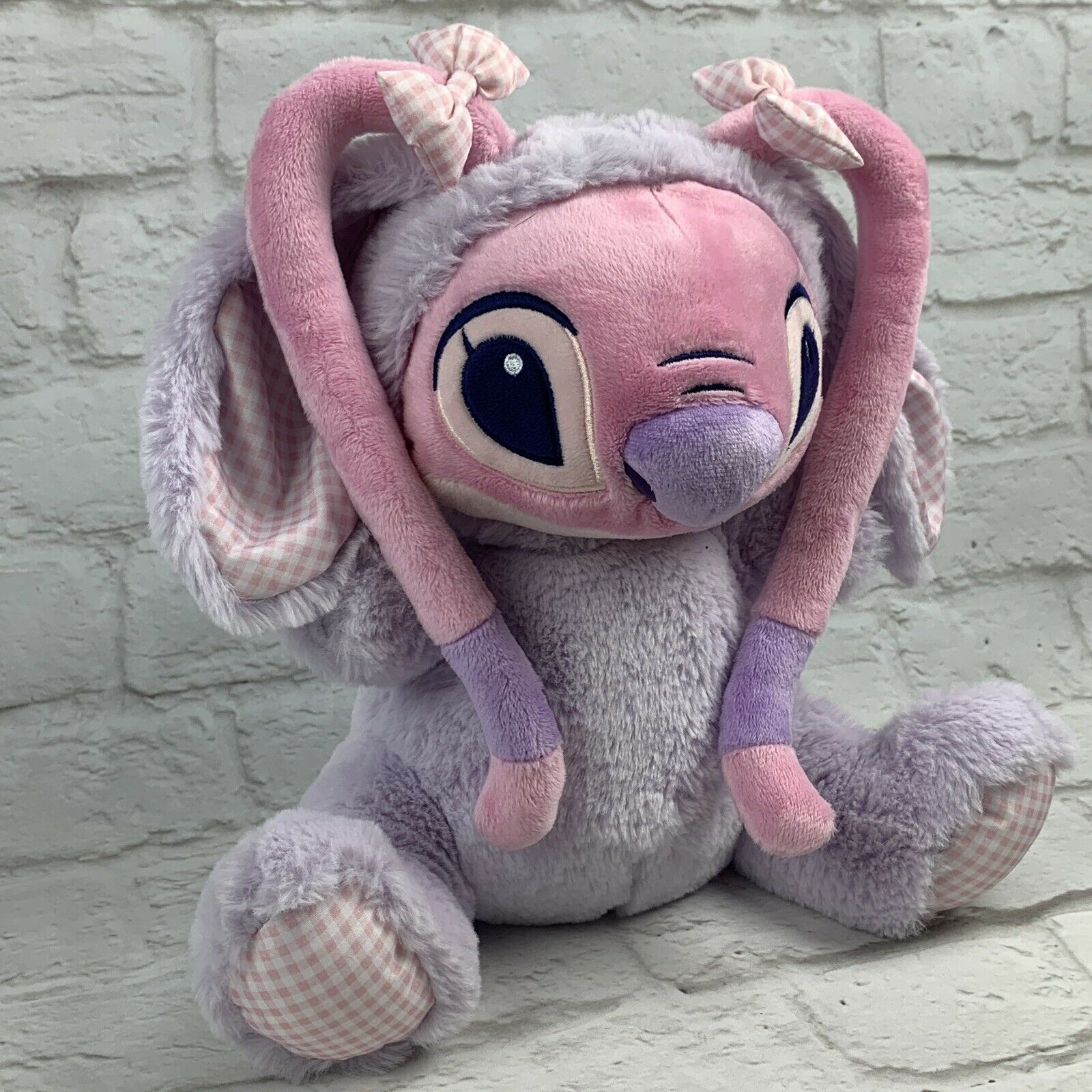 Disney Store Angel Bunny Plush 11'' LILO and Stitch Gift Easter Bunny Basket image 2