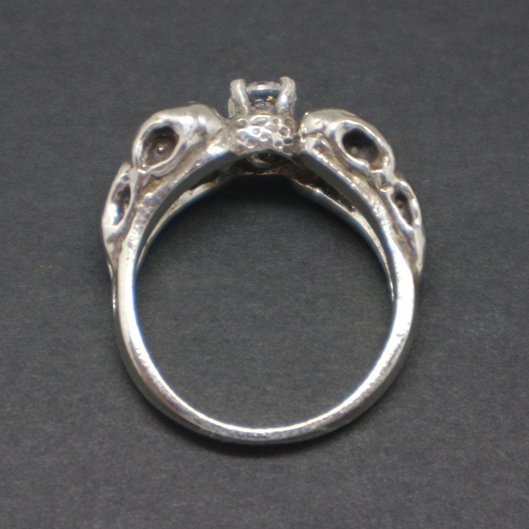 Silver Raven Skull Ring image 6