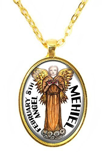 My Altar Archangel Haniel Gift of Prophecy Protected by Angels Gold Steel Pendant Necklace