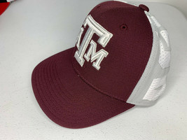 NEW LARGE/XL MEN Adidas TEXAS A&M AGGIES Fitted Baseball Cap Hat SPELL OUT - $9.89