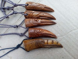 Raven Viking Amulet Hand Carved /Uppåkra, Talisman, Amulet, Necklace, No... - $45.00
