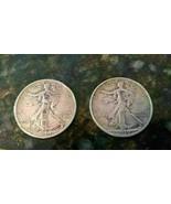 Lot of 2 1939 Walking Liberty Half Dollars - Two Coins Circulated - $23.39