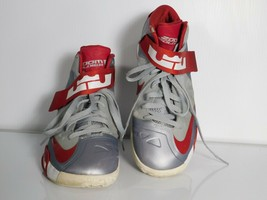 Nike Zoom Soldier Men's Shoes IV Lebron James Gray Red Size 9.5 525017-003 - $44.55