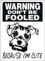 SCHNAUZER ALUMINUM DOG SIGN 1819 9 x 12 aluminum - $14.49