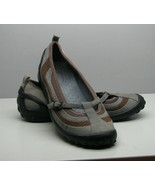 Clarks Privo  Woman's 7.5 M SHOES Gray Leather Flats Round Toe - $16.82
