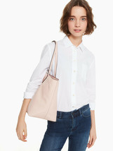 NWT Kate Spade Larchmont Avenue Penny Pink Beige Leather Tote WKRU5374 - $117.99