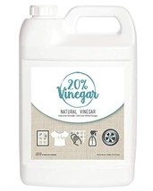 20% White Vinegar - 200 Grain Vinegar Concentrate - 1 Gallon of Natural and Safe