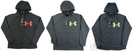 Under Armour Men's Heathered Full Zip Hoodie ColdGear Loose Sweatshirt NEW