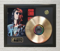 John Lennon Framed Wood Reproduction Signature Display M4 - $143.96