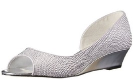 Nina Women's Rally-LS Wedge Pump,Royal Silver,7.5 M US 37.5 Eur - $39.59