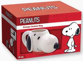 Peanuts Snoopy's Molded Head Image Figural Ceramic 16 ounce Mug, NEW UNUSED - $14.50