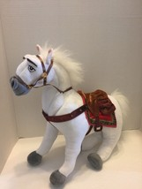 "Disney Maxim White Pony Plush From Tangled Bendable Legs 15""L - $10.39"