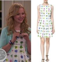 Zara Palm Tree Print Fit & Flare Sleeveless White Dress Size M Blogger F... - $68.31