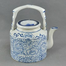 """Chinese Porcelain Teapot – Blue and White Decoration – Marked """"Made in C... - $125.88"""