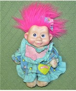 Vintage MAGIC TROLLS Applause 1991 Baby Doll PINK Hair Night Gown & Pant... - $19.80