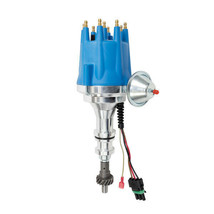 Pro Series R2R Distributor for Ford BBF V8 Engine Blue Cap image 1
