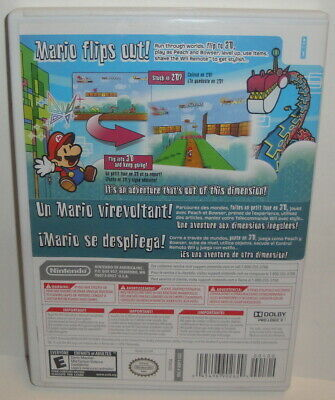 Wii SUPER PAPER MARIO - CiB 2007 Nintendo Selects Video Game Complete