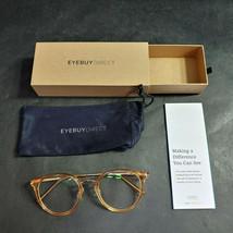 EyeBuyDirect Eyeglass Frames ONLY w/ Pouch, Hollie, 50-21-146 - $32.54