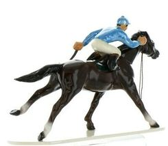 Hagen Renaker Specialty Horse with Jockey Racing Ceramic Figurine image 6