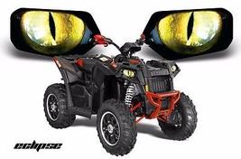 AMR Racing Headlight Eye Graphics Decals Cover Polaris Srambler 10-12 EC... - $18.95
