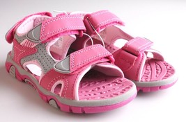Khombu Kids Girls Pink River Sandal w Adjustable Straps and Comfort Insole NWT