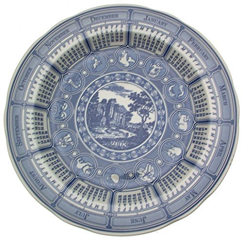 Spode Blue Room Calendar Plate 2003 Classic Landscape CP490 - $30.58