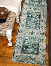 Rugs.com El Paso Collection Rug – 10 Ft Runner Green Medium Rug Perfect for Hall - $119.00