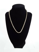 Vintage Monet Twisted Gold Silver Tone Chain Necklace - $12.19
