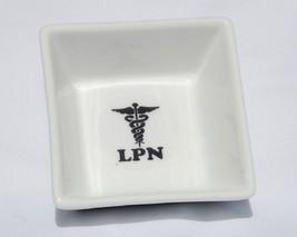 Porcelain Ring Dish - Caduceus Cross Licensed Practical Nurse LPN (Handc... - $14.95