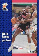 Willie Burton ~ 1991-92 Fleer #105 ~ Heat - $0.05