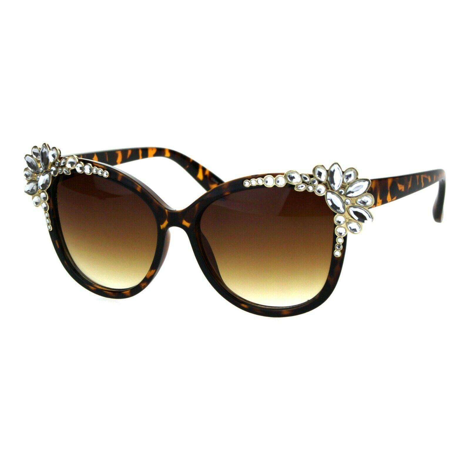Womens Fancy Rhinestones Sunglasses Bling Butterfly Frame UV 400