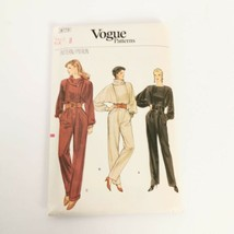 Vogue 8773 Jumpsuit Size 8 One Piece Vintage Sewing Pattern Uncut - $19.99