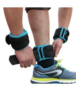 1kg/pair Adjustable Wrist Ankle Weights Iron Sand Bag Weights Straps Fit... - $36.77