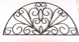 Over The Door Metal Decorative Wall Hanging Brown Swirls - $24.74