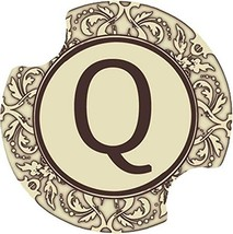 Thirstystone Monogram Q Car Cup Holder Coaster, 2-Pack - $13.97