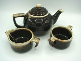 Pfaltzgraff Vintage Gourmet Brown Drip Design on Edge Creamer/Open Sugar... - $23.83