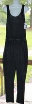Bobbie Brooks Medium Black Jumpsuit w/ Pockets Drawstring Long Pants Jum... - $15.19