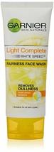 2 X Garnier Light Complete White Speed Fairness Face Wash - 100 gm free shipping - $14.36