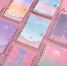 Moonlight Twinkle Diary A5 6 Holes Journal Planner Scheduler Notebook Or... - $24.99