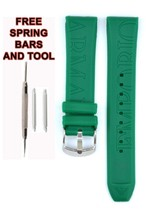 Compatible Armani AR1057 20mm Green Rubber Watch Strap (Similar) ARM133 - $19.79