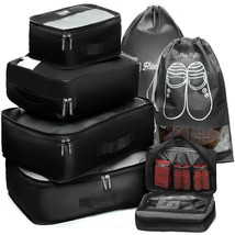 Packing Cubes Travel Set 7 Pc Luggage Carry-On Organizers Toiletry & Lau... - £22.48 GBP