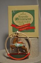 Hallmark - Carousel Reindeer - 1987 - Charter Member Collector Club Ornament - $7.74