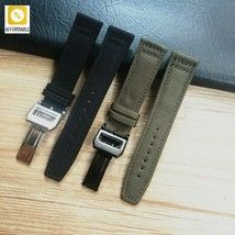 Watch Strap Canvas Men Women Nylon Leather Watch Band For IWC Portugiese... - $28.59+