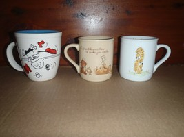 Lot of 3 Vintage Hallmark Coffee Tea Mugs Peanuts Rim Shots Mug Mates - $37.39