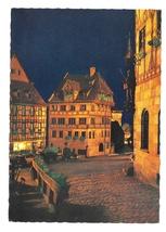 Germany Nurnberg Albrecht Durer Haus House Night View Color Foto Postcar... - $6.69