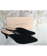 Loeffler Randall Juno Heel  Mules Black Suede Size 8.5 M - $158.40